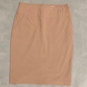 Papaya Tan Pencil Skirt